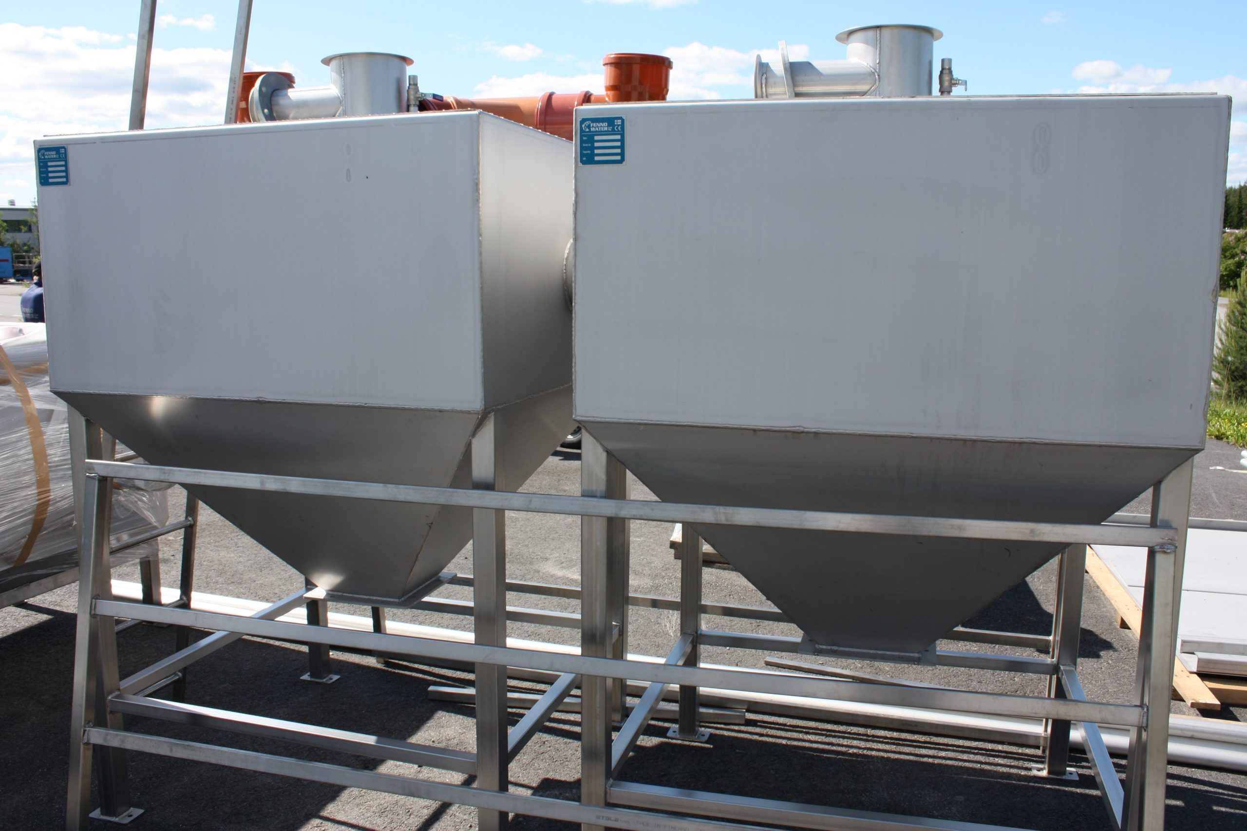 Product image: Steel sand de-watering units